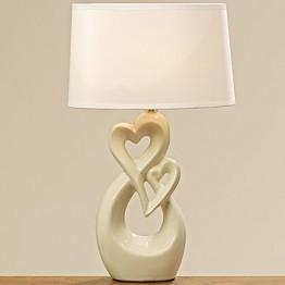 Лампа Calvina кремовая керамика h41см