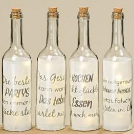 Светодиодная бутылка Фанни прозрачное стекло h30см