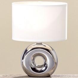 Лампа Нежность серебряная керамика h26см