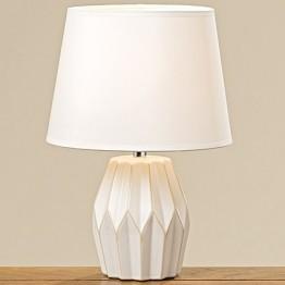 Лампа Стокгольм белая керамика h33см