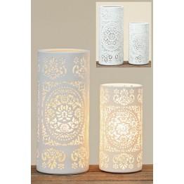 Лампа Шари белая керамика h20см