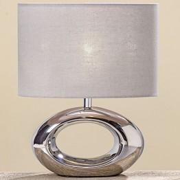 Лампа Нежность серебряная керамика h33см