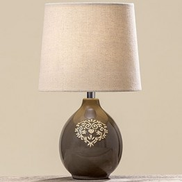 Лампа цветная керамика h34см
