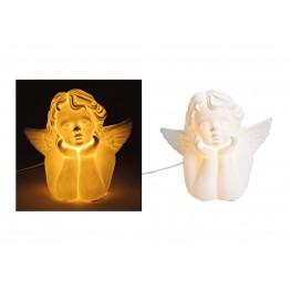 Настольная лампа Ангел белый керамика 24X14X22 см