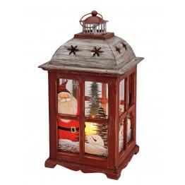 Фонарь ночник Рождество ручная роспись 22x22x40см