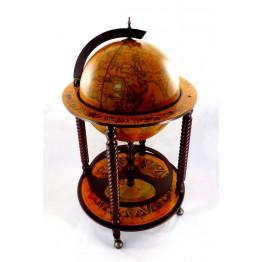 Глобус бар напольный на 4 ножки 450 мм коричневый