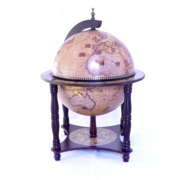Настольный глобус бар, 33см,  4 ножки
