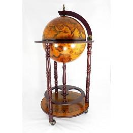 Глобус бар напольный 33см, 3 ножки, коричневый