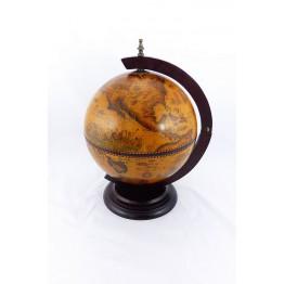 Настольный глобус бар 33см коричневый