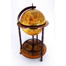 Напольный глобус бар 45см, 3 ножки, коричневый