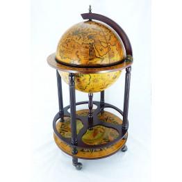 Напольный глобус бар 42см, 4 ножки, коричневый