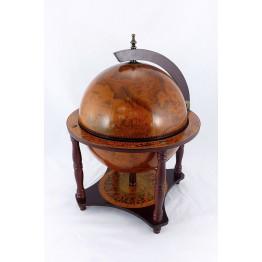 Настольный глобус бар, 36 см,  4 ножки, коричневый