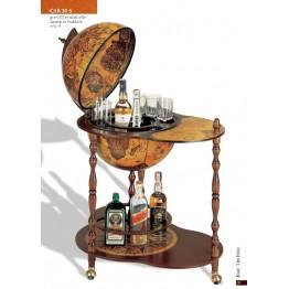 Напольный глобус бар со столом на колёсиках Santelli C50S