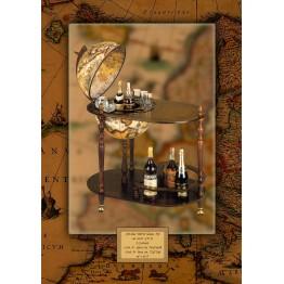 Напольный глобус-бар со столиком  Santelli C42 EW Tre esse