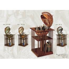 Напольный глобус-бар с книжными полками Zoffoli, art. 19 (Italy)