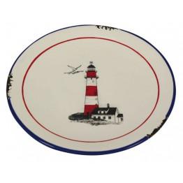 Тарелка с дизайном маяка