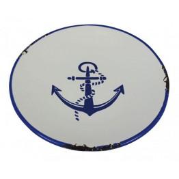 Тарелка с якорным принтом, 15,5cm