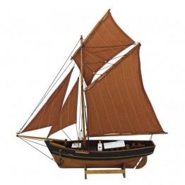 Деревянное рыболовное судно L: 60cm, H: 64cm