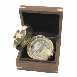 Брантон Латунный компас в деревянной коробке 8221