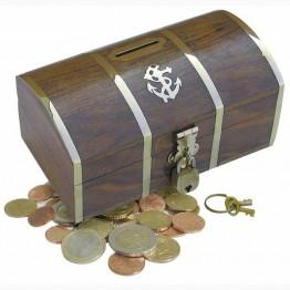 Деревянная коробка для монет