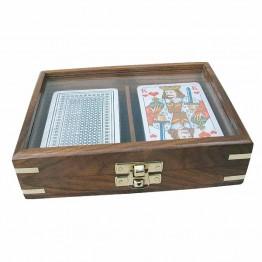 Игральные карты в стильной коробке, морская тематика