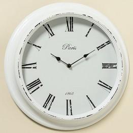Настенные часы белый МДФ d39см