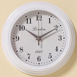 Настенные часы белый полистоун d23см