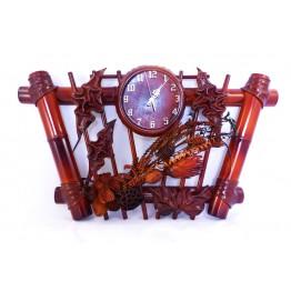 Часы из натуральной кожи и бамбука-Трапеция