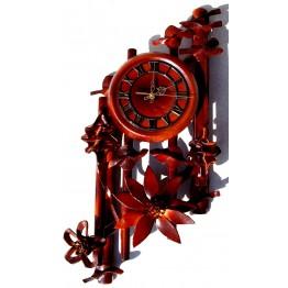 Часы из натуральной кожи и бамбука-Ромб