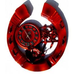 Часы из натуральной кожи и бамбука-Подкова