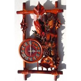Часы из натуральной кожи и бамбука- Рамка сухоцвет