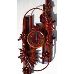 Часы из натуральной кожи и бамбука-Овал
