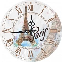 Часы круглые настенные ПАРИЖ 34 см