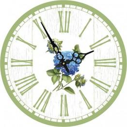 Часы круглые настенные ГОРТЕНЗИЯ 34 см