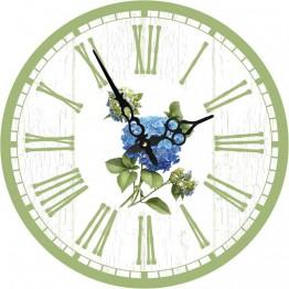 Часы круглые настенные ГОРТЕНЗИЯ 60 см