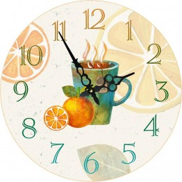Часы круглые настенные HOT DRINK 60 см