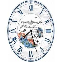 Часы овальные настенные BIRDS 46*60