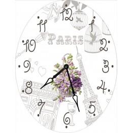 Часы овальные настенные НЕЖНОСТЬ 46*60