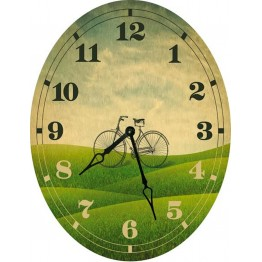 Часы овальные настенные VELO 46*60