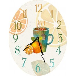 Часы овальные настенные HOT DRINK 46*60