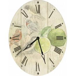 Часы овальные настенные ЛАЙМ 46*60