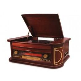"""Приемник  """"Кару-зо""""  (Приемник  """"Кару-зо"""" (AM/FM радио, CD-плеер, USB, Кассетная дека,проигрыватель), дерево"""