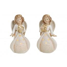 Подсвечник Ангел белый керамика 10X8X19см