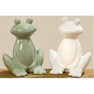 Статуэтка лягушка Atjom керамика h13см