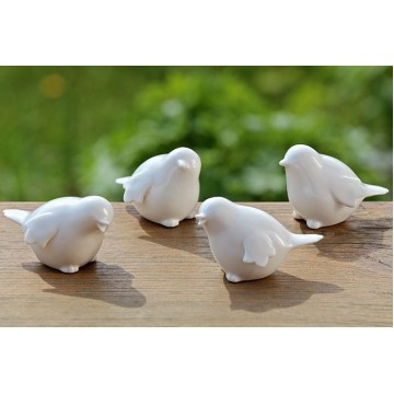 Статуэтка птица белая керамика h5,5см