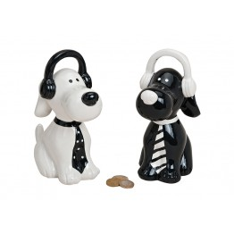 Копилка собака в наушниках керамика 9X16X20 см