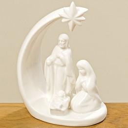 Статуэтка Рождество белая керамика h15см