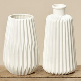 Ваза Эско белая керамика h17см